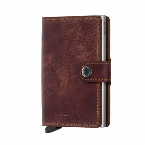 Secrid Miniwallet in de kleur Vintage Brown