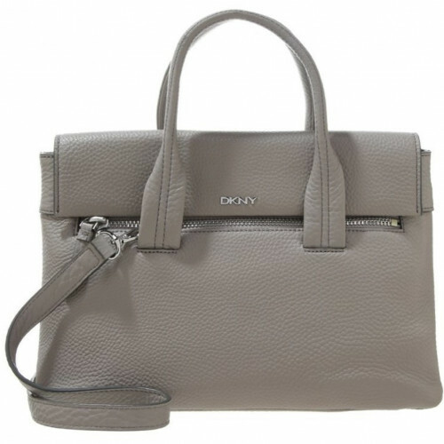 DONNA KARAN NEW YORK TRIBECA SATCHEL, R2613202 in de kleur 020 grey 795730022186