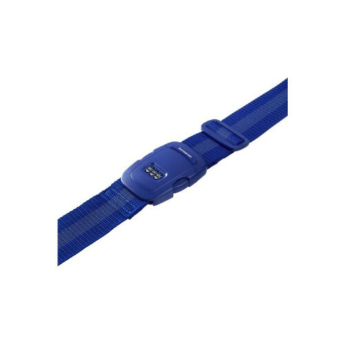 Samsonite TRAVEL ACCESSORIES LUGGAGE STRAP+ COMBILOCK, U23-011 in de kleur 11 indigo blue 5414847534874