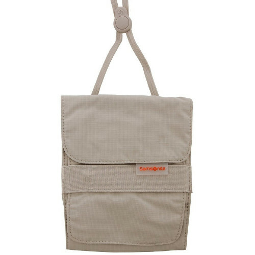 Samsonite TRAVEL ACCESSORIES KANGAROO NECK POUCH, U23-513 in de kleur 02 beige 5414847249297