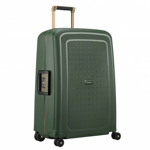 Samsonite S'CURE DLX SPINNER 69, U44-001 in de kleur 24 dark green-gold delus 5414847891182