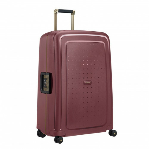 Samsonite S'CURE DLX SPINNER 75, U44-002 in de kleur 20 burgundy-gold 5414847884979