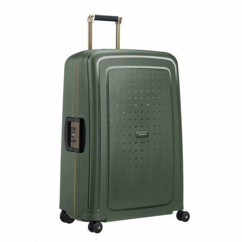 Samsonite S'CURE DLX SPINNER 75, U44-002 in de kleur 24 dark green-gold delus 5414847891199