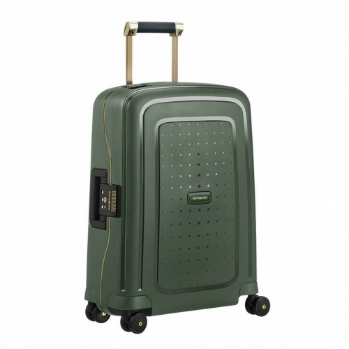 Samsonite S'CURE DLX SPINNER 55, U44-003 in de kleur 24 dark green-gold delus 5414847891175