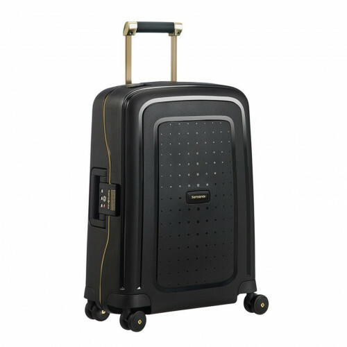 Samsonite S'CURE DLX SPINNER 55, U44-003 in de kleur 29 black-gold delusc. 5414847885006