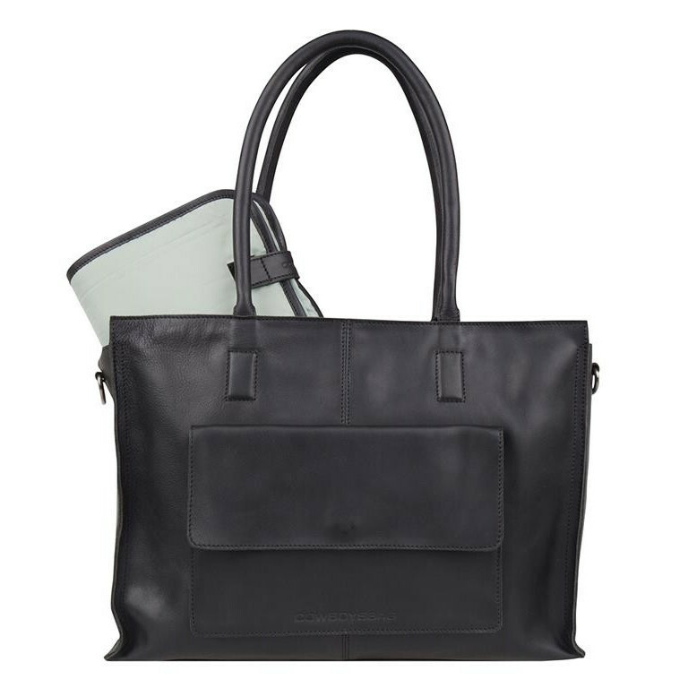 5a4311abef2 Cowboysbag CLEAN LINES DIAPER BAG TORTOLA, 2051 in de kleur 100 black  8718586583412