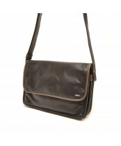 Berba / FLAP BAG MEDIUM / 005-517_14 black - taupe