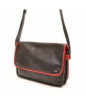 Berba / FLAP BAG MEDIUM / 005-517_15 black - red