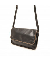 Berba / FLAP BAG SMALL / 005-562_14 black - taupe