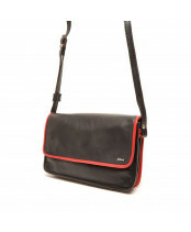 Berba / FLAP BAG SMALL / 005-562_15 black - red
