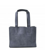 Mypaperbag Handbag Zip 1057 hunter blue grey