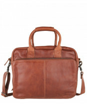 Cowbowsbag laptoptas Bag Spalding 1525 in de kleur cognac, serie Practical Minds