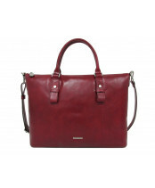 ff7a8e8f85d Claudio Ferrici PELLE VECCHIA BUSINESS TOTE S, 22001 in de kleur 304 red  8717056942698