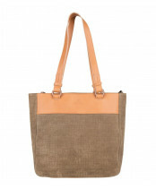 c19232c54fd Fred de la Bretoniere TRIBE SHOPPINGBAG M +LEATHER, 282010003 in de kleur  3121 taupe