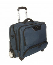Dermata DERMATA NYLON OFFICE CASE TROLLEY, 3456NY in de kleur petrol 4035715345630