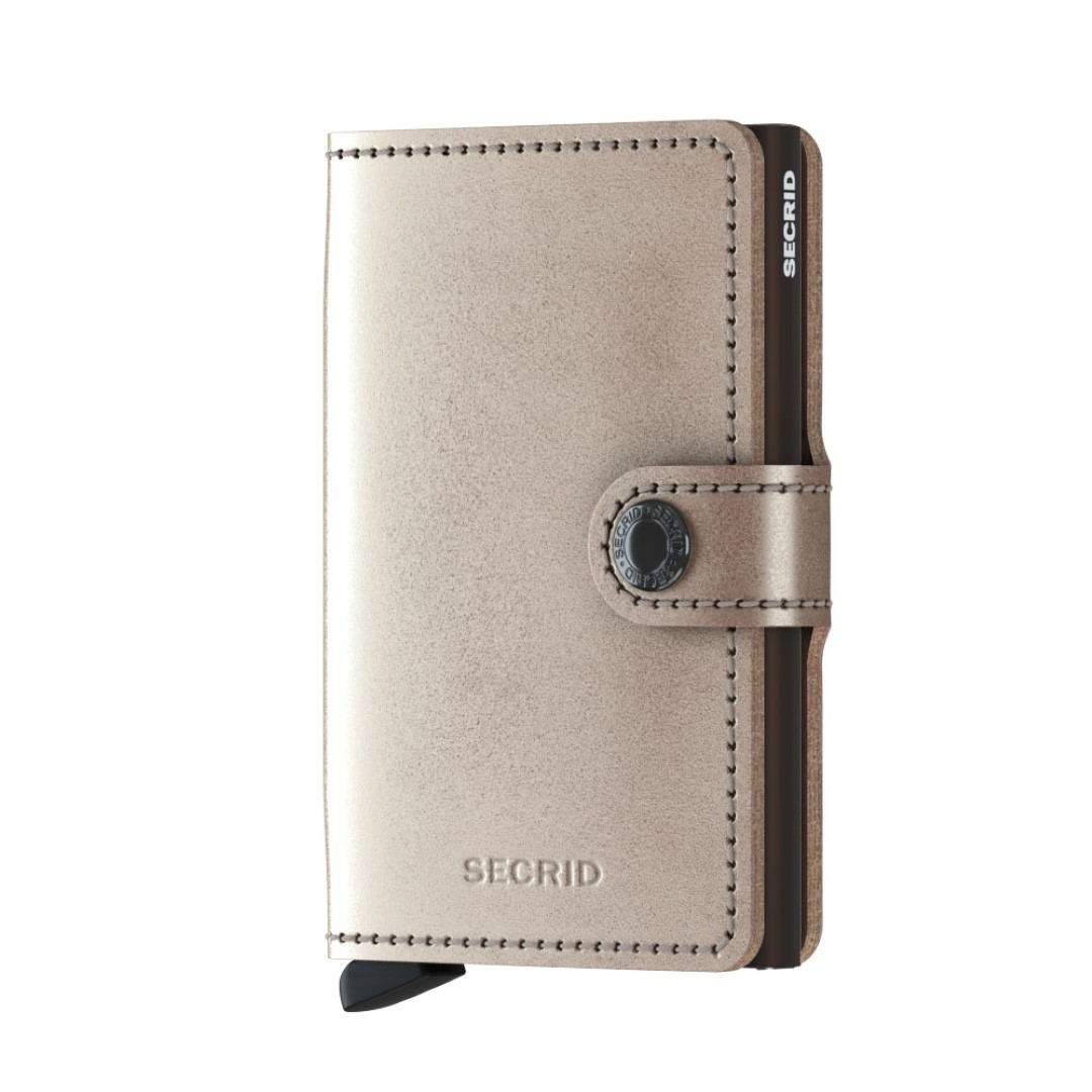 secrid miniwallet metallic mme champagne brown